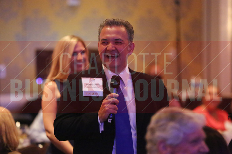 Joaquin Soria of Hospice & Palliative Care gives his younger self advice at the CFO of the Year Awards.