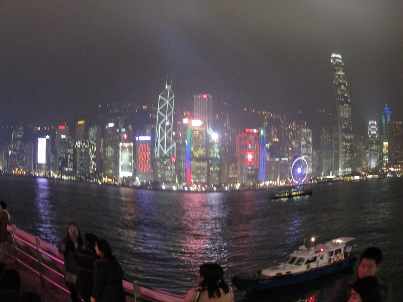 0001 - Night View of Hong Kong Harbour and Island from Kowloon - Hong Kong China - Date/Time on Pic is wrong