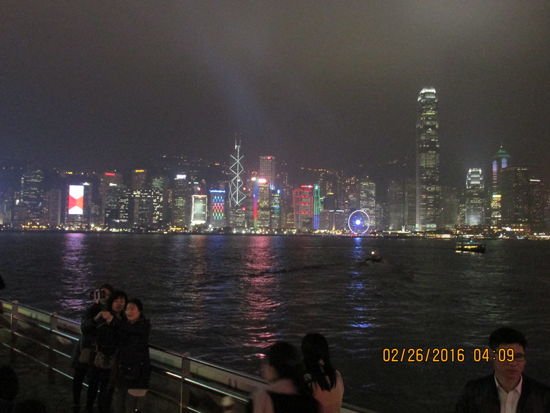 0002 - Night View of Hong Kong Harbour and Island from Kowloon - Hong Kong China - Date/Time on Pic is Wrong