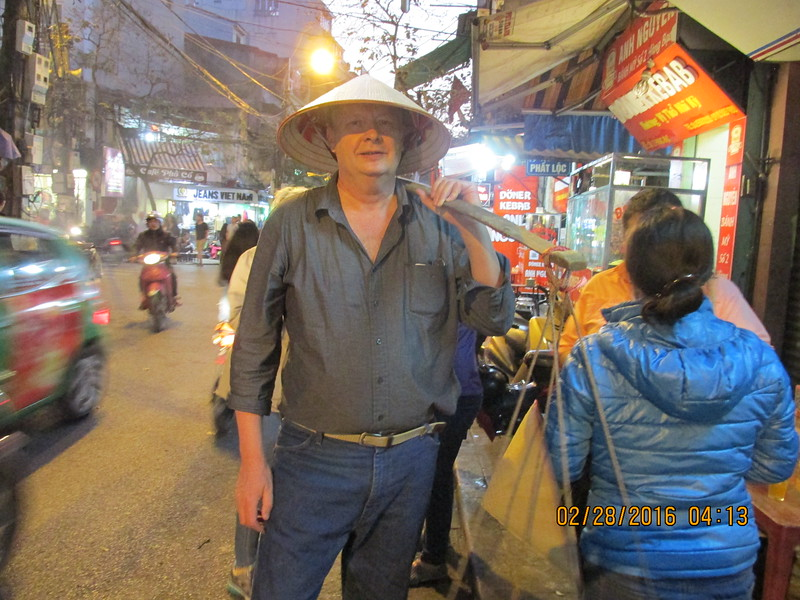0055 - Brian on the Streets of the Old Quarter - Hanoi Vietnam - Date Correct but Time on Pic is Wrong