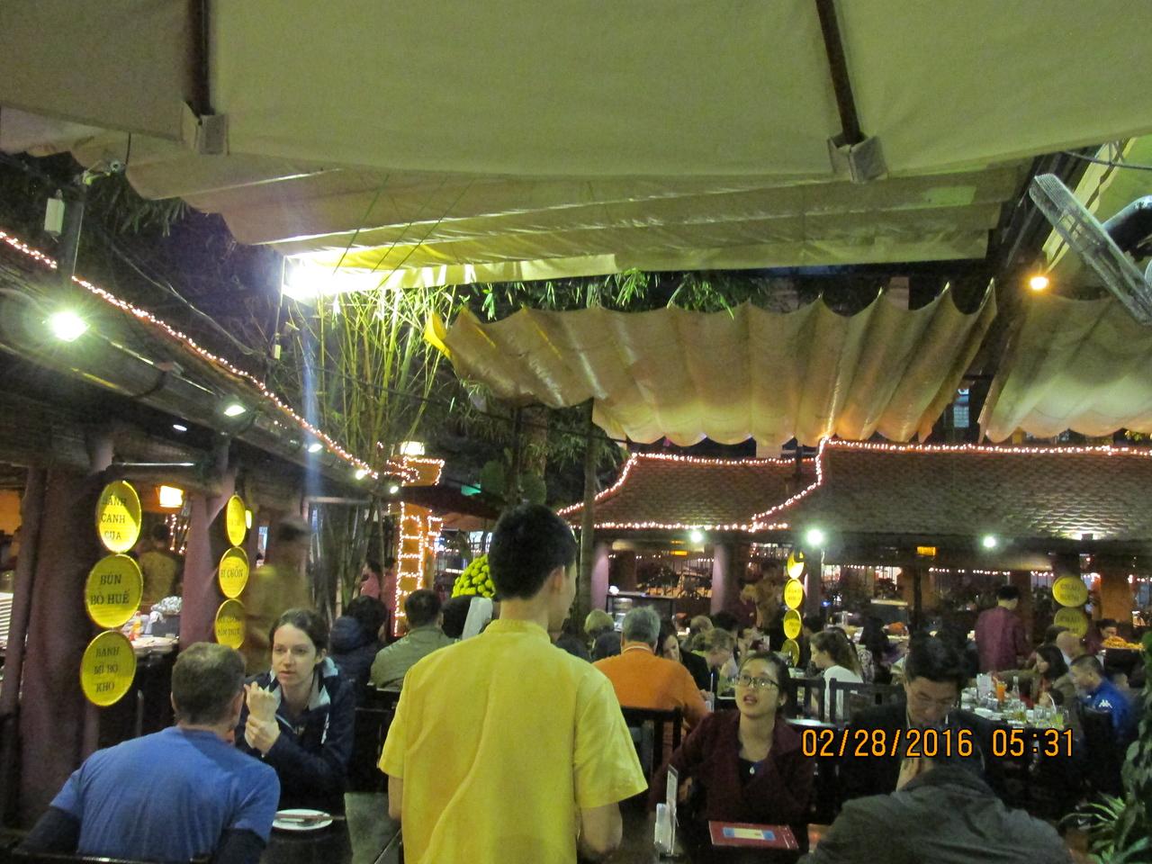 0066 - Quan An Ngon Restaurant on Phan Boi Chau - Hanoi Vietnam - Date Correct but Time on Pic is Wrong