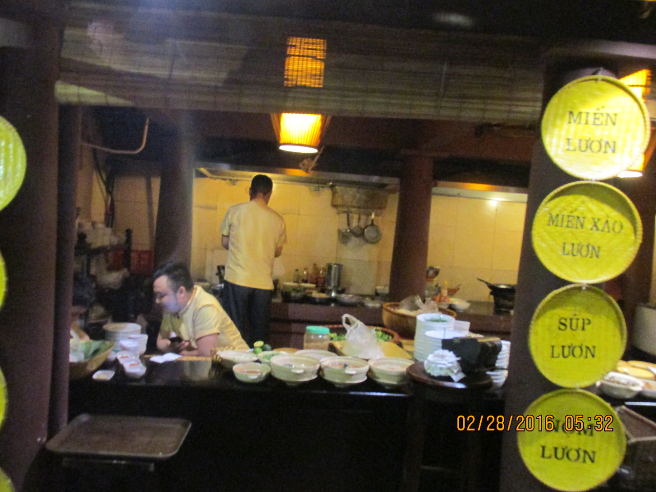 0068 - Quan An Ngon Restaurant on Phan Boi Chau - Hanoi Vietnam - Date Correct but Time on Pic is Wrong