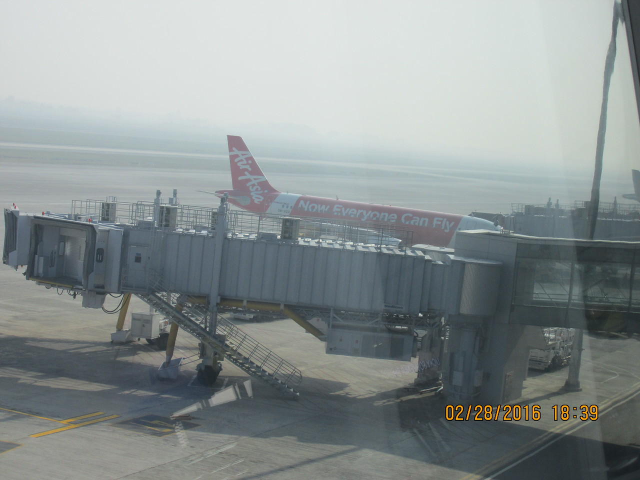 0098 - AirAsia Airplane from Malaysia at Hanoi Airport - Hanoi Vietnam - Date Correct but Time on Pic is Wrong