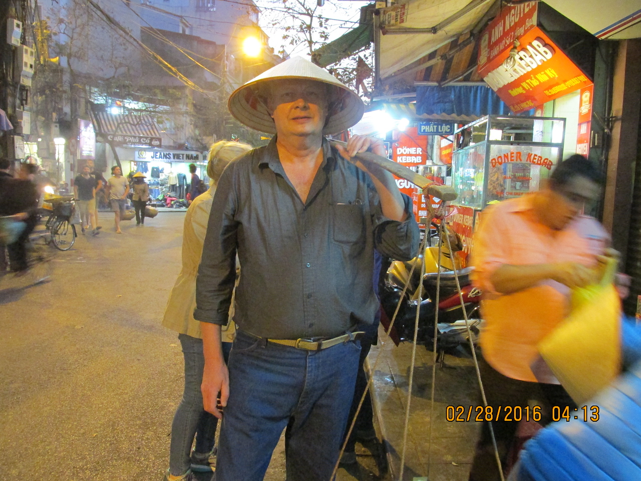 0056 - Brian on the Streets of the Old Quarter - Hanoi Vietnam - Date Correct but Time on Pic is Wrong