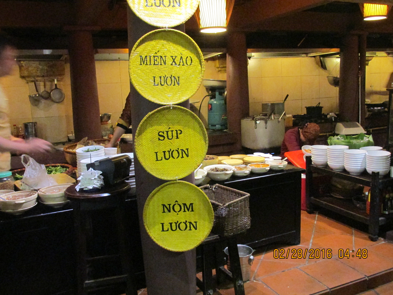 0063 - Quan An Ngon Restaurant on Phan Boi Chau - Hanoi Vietnam - Date Correct but Time on Pic is Wrong
