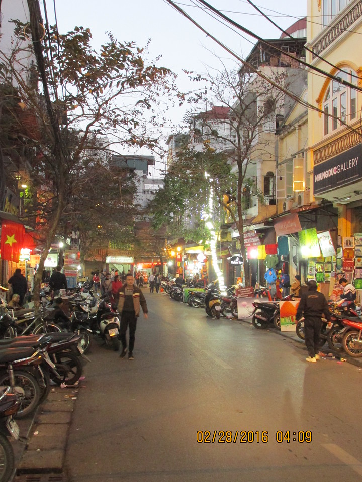 0052 - Streets of the Old Quarter - Hanoi Vietnam - Date Correct but Time on Pic is Wrong