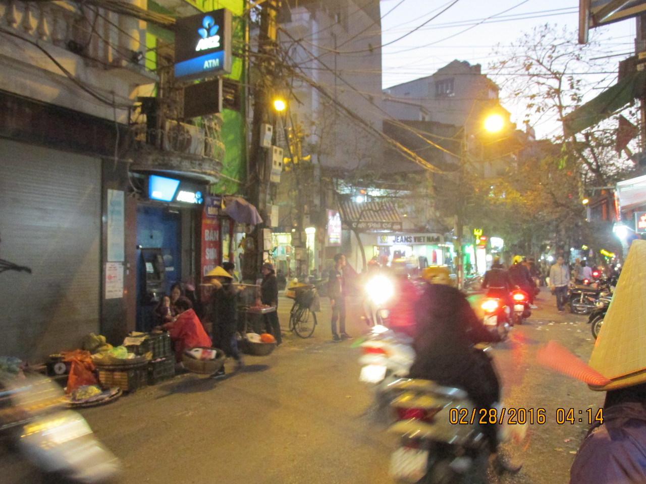 0057 - Streets of the Old Quarter - Hanoi Vietnam - Date Correct but Time on Pic is Wrong