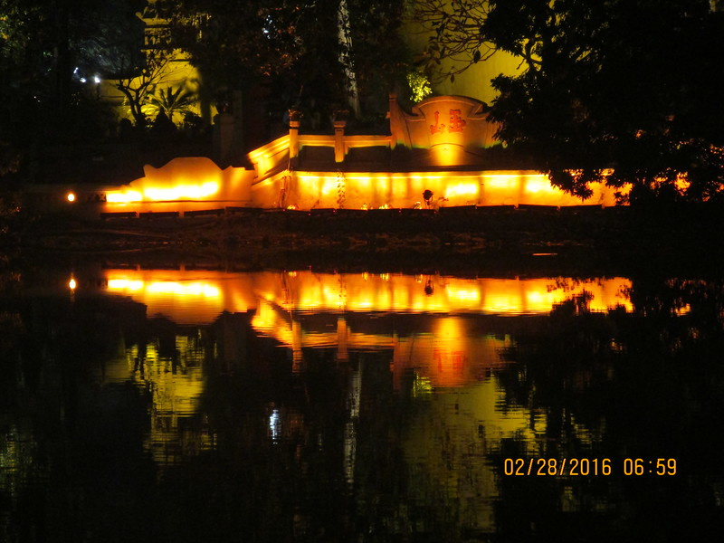0081 - Night View of Hoan Kiem Lake in the Old Quarter - Hanoi Vietnam - Date Correct but Time on Pic is Wrong