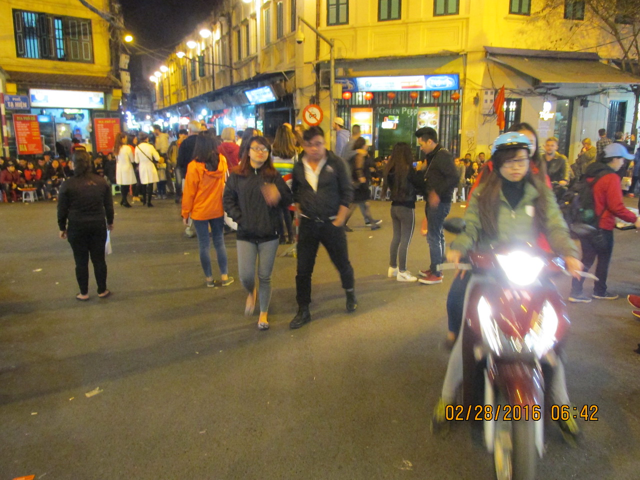 0074 - Streets of the Old Quarter - Hanoi Vietnam - Date Correct but Time on Pic is Wrong