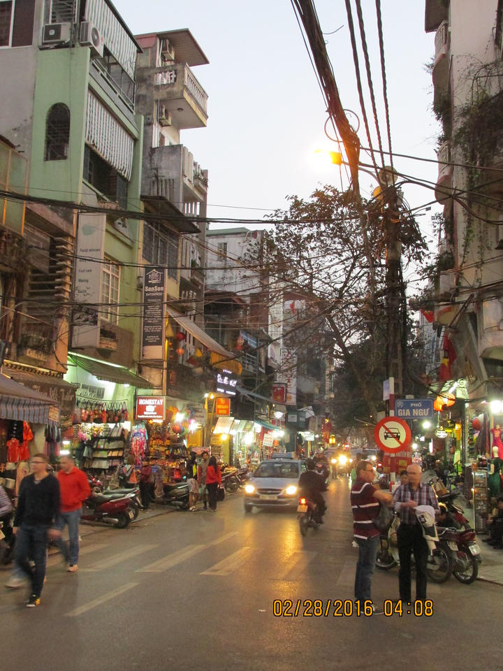 0051 - Streets of the Old Quarter - Hanoi Vietnam - Date Correct but Time on Pic is Wrong