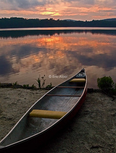 Canoe sunset