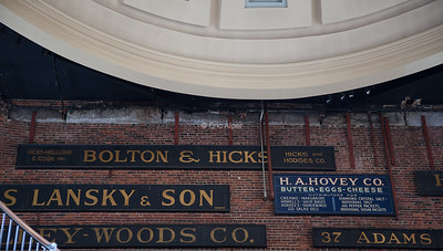 History inside Quincy Market