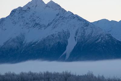 Pioneer Peak before daybreak