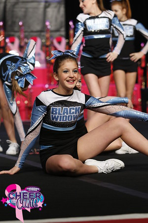 Black Widow Cheer Gym Cotton Candy Large Youth 1