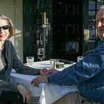 Connie and Mike Brooks at Majid\'s.