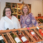Alice Herrington and Jamie Harper at Gemelli Wine and Spirits.