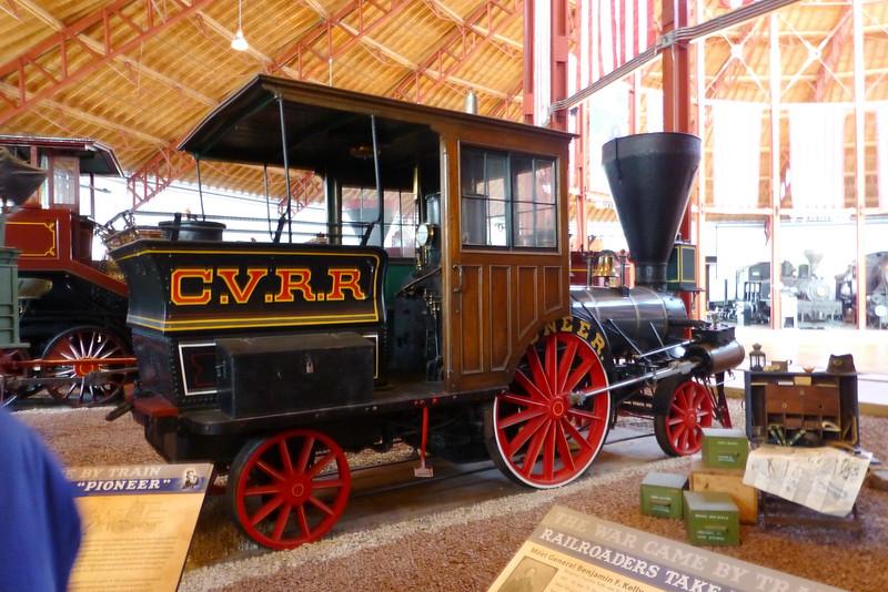 """No. 13 """"Pioneer"""" Locomotive 2-2-2"""