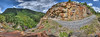 Here is my big 360 multi row panorama taken on the Mineral Creek Trail.
