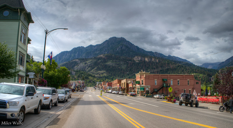 Downtown Ouray! Love this town. No airport so it's not built up like Aspen or Telluride.