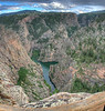 More of the Black Canyon of the Gunnison taken from the Pioneer Lookout Point.