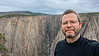 Cell phone selfie at the Exclamation Point. Black Canyon of the Gunnison.