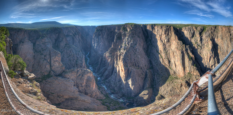This was taken at the North Rim Campground, Black Canyon of the Gunnison. Just to give you an idea Deep the canyon is. The deepest point is 2,250 feet below the rim.