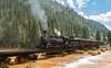 Durango Silverton Train, crossing over the Animas River just outside of Silverton.