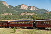 Durango Silverton Train, coming into Rockwood Depot. I later rode on the Knight Sky car. All of the glass gives a wonderful views.
