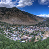 Panorama Drone shot of Georgetown. On my way up Guanella Pass.