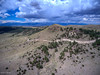Drone shot of the Sangre De Cristo Mountains from Mission Wolf.