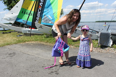 A future Hobie Cat Fleet 204 sailor with her mom :)
