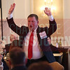 Allen Nason, Eastwood Homes, celebrates after winning the Outstanding Solo General Counsel award.