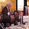 George Walls, Lifetime Achievement winner, talks with colleagues at Bank of America at the Corporate Counsel Awards.