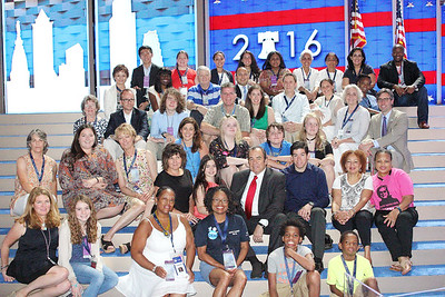 2016 DNC Family & Group pics at Wells Fargo Center on Wednesday, July 27, 2016 in Philadelphia. PA