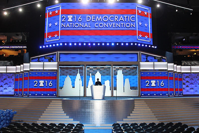 2016 DNC VIP TOUR PODIUM PICS AT THE WELLS FARGO CENTER IN PHILADELPHIA, PA