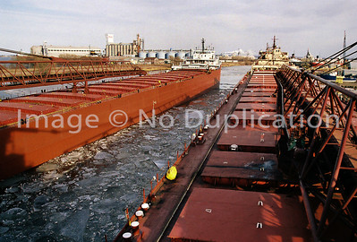 1998 HERBERT C. JACKSON arrives Fraser Shipyard in Superior, WI. Shot from aboard the Middletown.