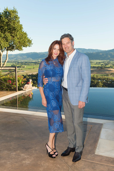 RUTHERFORD, CA - July 19 -  Nicole Needham and Robert Krohn attend Festival Napa Valley Patron Dinner at Round Hill Estate July 19th 2016 at Round Hill Estate , . 101 Rutherford Hill Road in Rutherford, CA (Photo Credit: Susana Bates for Drew Altizer Photography for Drew Altizer Photography)