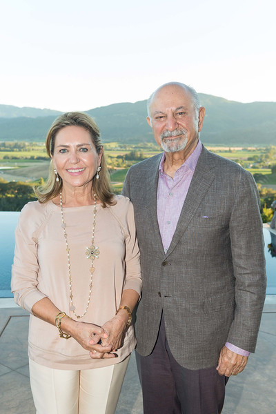 RUTHERFORD, CA - July 19 -  Shahpar Khaledi and Darioush Khaledi attend Festival Napa Valley Patron Dinner at Round Hill Estate July 19th 2016 at Round Hill Estate , . 101 Rutherford Hill Road in Rutherford, CA (Photo Credit: Susana Bates for Drew Altizer Photography for Drew Altizer Photography)