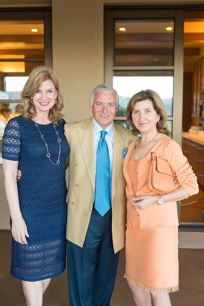 RUTHERFORD, CA - July 19 -  Karen Walker, Antonio Castellucci and Rita Castellucci attend Festival Napa Valley Patron Dinner at Round Hill Estate July 19th 2016 at Round Hill Estate , . 101 Rutherford Hill Road in Rutherford, CA (Photo Credit: Susana Bates for Drew Altizer Photography for Drew Altizer Photography)