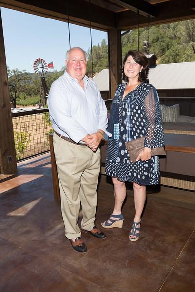CALISTOGA, CA - July 22 -  Mike Davis and Blakesley Chappellet attend Festival Napa Valley: Bulgari Luncheon at Davis Estates July 22nd 2016 at Davis Estates, . 4060 SILVERADO TRAIL in CALISTOGA, CA Photo - Drew Altizer