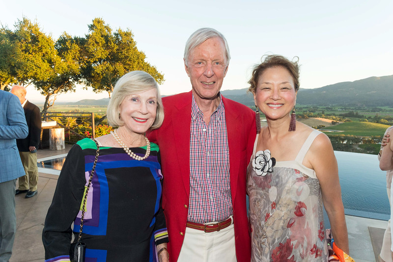 RUTHERFORD, CA - July 19 -  Pepper Jackson, Michael Jackson and Olivia Decker attend Festival Napa Valley Patron Dinner at Round Hill Estate July 19th 2016 at Round Hill Estate , . 101 Rutherford Hill Road in Rutherford, CA (Photo Credit: Susana Bates for Drew Altizer Photography for Drew Altizer Photography)