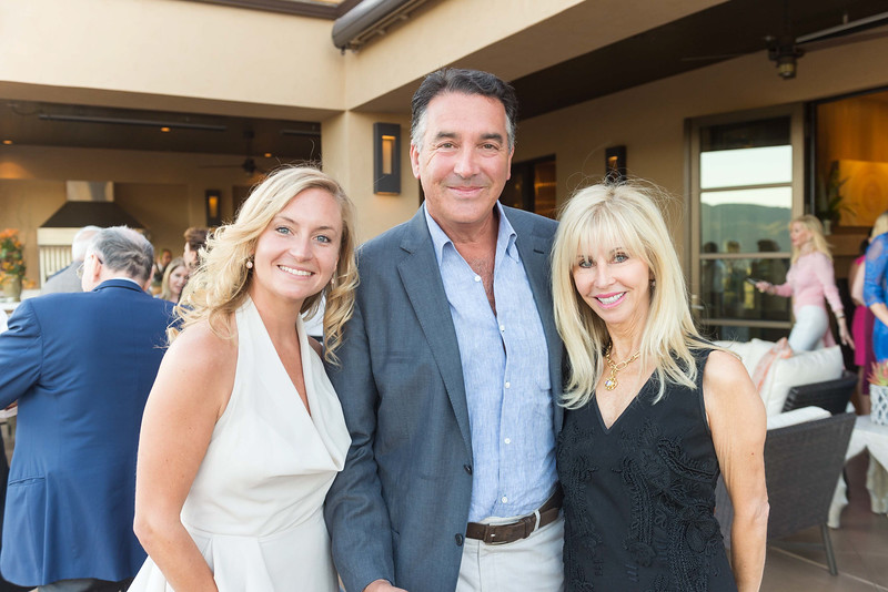 RUTHERFORD, CA - July 19 -  Tasha Hamilton, Michael Polenske and Ginger Martin attend Festival Napa Valley Patron Dinner at Round Hill Estate July 19th 2016 at Round Hill Estate , . 101 Rutherford Hill Road in Rutherford, CA (Photo Credit: Susana Bates for Drew Altizer Photography for Drew Altizer Photography)