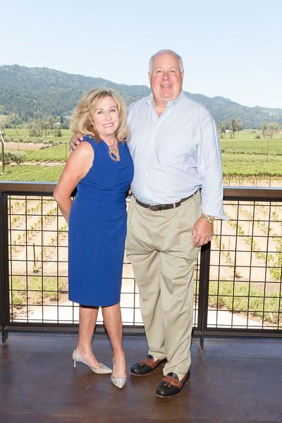 CALISTOGA, CA - July 22 -  Sandy Davis and Mike Davis attend Festival Napa Valley: Bulgari Luncheon at Davis Estates July 22nd 2016 at Davis Estates, . 4060 SILVERADO TRAIL in CALISTOGA, CA Photo - Drew Altizer
