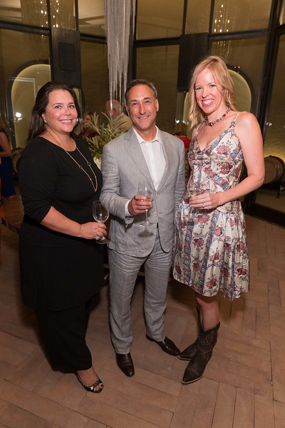 CALISTOGA, CA - July 22 -  Nathalie Diamantis, Michael Cuggino and Holly Cuggino attend Festival Napa Valley: Bulgari Luncheon at Davis Estates July 22nd 2016 at Davis Estates, . 4060 SILVERADO TRAIL in CALISTOGA, CA Photo - Drew Altizer