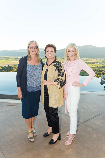 RUTHERFORD, CA - July 19 -  ?, Maria Manetti Shrem and Pamala Deikel attend Festival Napa Valley Patron Dinner at Round Hill Estate July 19th 2016 at Round Hill Estate , . 101 Rutherford Hill Road in Rutherford, CA (Photo Credit: Susana Bates for Drew Altizer Photography for Drew Altizer Photography)