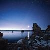 Saturn rising over Mono Lake