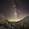 Milky Way over Selden Pass on the John Muir Trail
