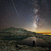 Perseids Meteor Shower over Hell For Sure Lake