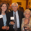 From left, Alisa Chapman, School of Education Foundation Board member Bill Whichard and Chapman's mother, Rebecca Miller.