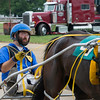 Richard S. Finn and his horse, Feel My Pain, get ready to race in the Effingam County Fair harness races.<br /> Trent Pearcy photo
